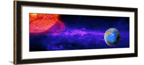 Earth Moving around the Sun--Framed Art Print