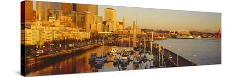 Buildings at Waterfront, Elliott Bay, Bell Harbor Marina, Seattle, King County, Washington State--Stretched Canvas Print