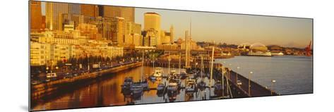 Buildings at Waterfront, Elliott Bay, Bell Harbor Marina, Seattle, King County, Washington State--Mounted Photographic Print