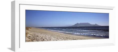 Sea with Table Mountain in the Background, Bloubergstrand, Cape Town, Western Cape Province, South --Framed Art Print