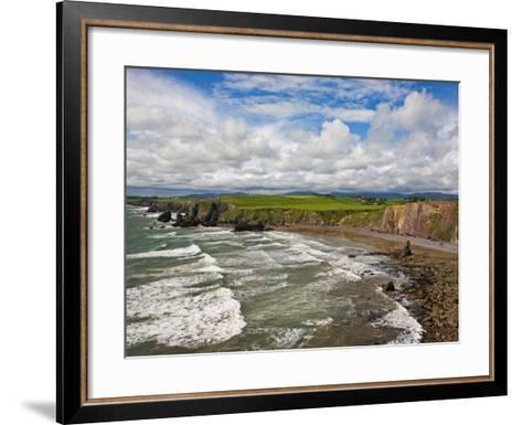 Ballydowane Cove on the Copper Coast, County Waterford, Ireland--Framed Art Print