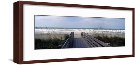 Boardwalk on the Beach, Nokomis, Sarasota County, Florida, USA--Framed Art Print