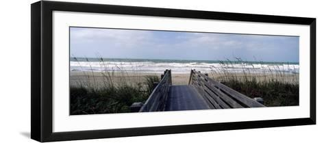 Boardwalk on the Beach, Nokomis, Sarasota County, Florida, USA--Framed Art Print