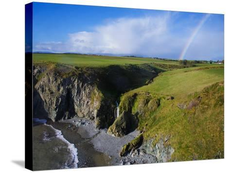 Rainbow over Ballydowane, the Copper Coast, County Waterford, Ireland--Stretched Canvas Print