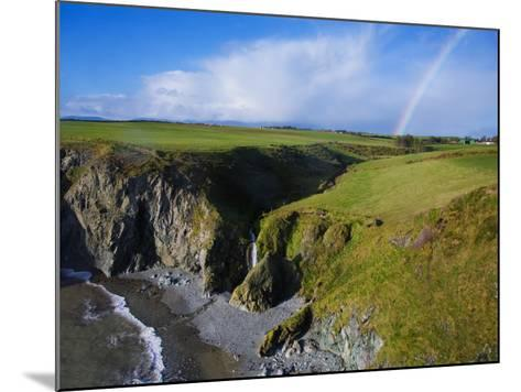 Rainbow over Ballydowane, the Copper Coast, County Waterford, Ireland--Mounted Photographic Print