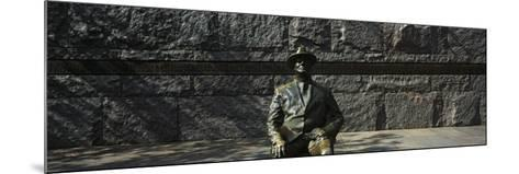 Bronze Statue of the Former Us President, Franklin Delano Roosevelt Memorial, Washington Dc, USA--Mounted Photographic Print