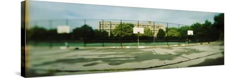 Basketball Court in Public Park, Mccarran Park, Greenpoint, Brooklyn, New York City, New York State--Stretched Canvas Print