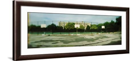 Basketball Court in Public Park, Mccarran Park, Greenpoint, Brooklyn, New York City, New York State--Framed Art Print