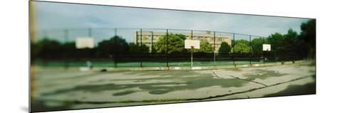 Basketball Court in Public Park, Mccarran Park, Greenpoint, Brooklyn, New York City, New York State--Mounted Photographic Print