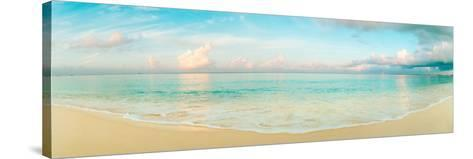 Waves on the Beach, Seven Mile Beach, Grand Cayman, Cayman Islands--Stretched Canvas Print