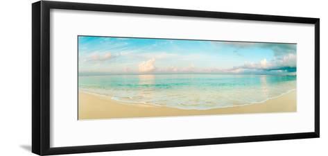 Waves on the Beach, Seven Mile Beach, Grand Cayman, Cayman Islands--Framed Art Print