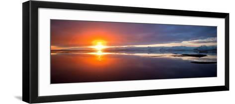 Sunset over the Sea, Hornafjordur, Iceland--Framed Art Print