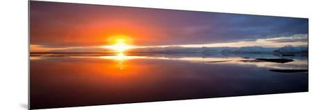 Sunset over the Sea, Hornafjordur, Iceland--Mounted Photographic Print