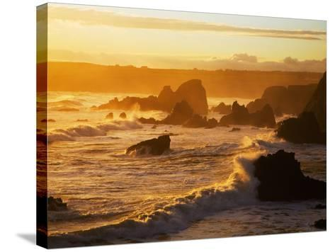 Westerly View, from Bunmahon, the Copper Coast, County Waterford, Ireland--Stretched Canvas Print