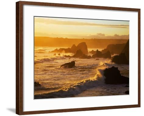 Westerly View, from Bunmahon, the Copper Coast, County Waterford, Ireland--Framed Art Print