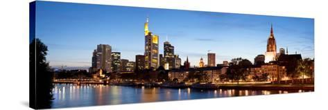 Buildings at the Waterfront, Main River, Frankfurt, Hesse, Germany--Stretched Canvas Print