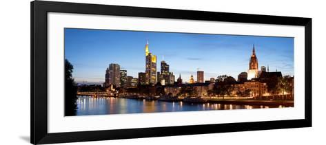 Buildings at the Waterfront, Main River, Frankfurt, Hesse, Germany--Framed Art Print