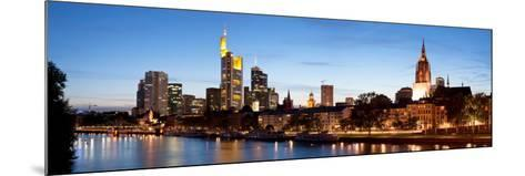 Buildings at the Waterfront, Main River, Frankfurt, Hesse, Germany--Mounted Photographic Print