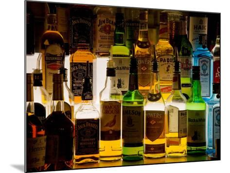 Bottles of Liquor, De Luan's Bar, Ballydowane, County Waterford, Ireland--Mounted Photographic Print