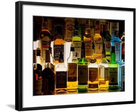 Bottles of Liquor, De Luan's Bar, Ballydowane, County Waterford, Ireland--Framed Art Print