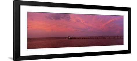 Pier over the Sea, Bokeelia Pier, Bokeelia, Pine Island, Florida, USA--Framed Art Print