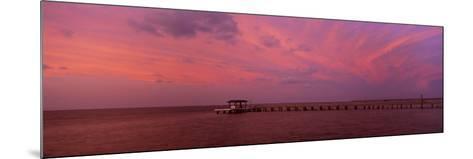 Pier over the Sea, Bokeelia Pier, Bokeelia, Pine Island, Florida, USA--Mounted Photographic Print
