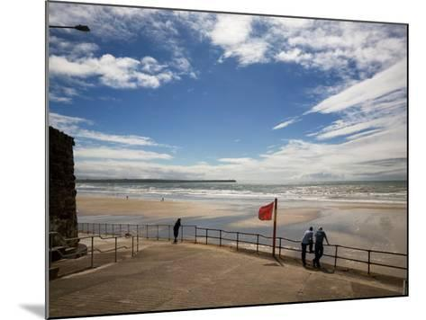 Promenade, Beach and Distant Brownstown Head, Tramore, County Waterford, Ireland--Mounted Photographic Print