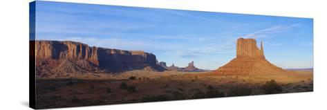 Sunset over Sandstone Bluffs in Monument Valley Navajo Tribal Park, Grand Canyon Np, Arizona, USA-Paul Souders-Stretched Canvas Print