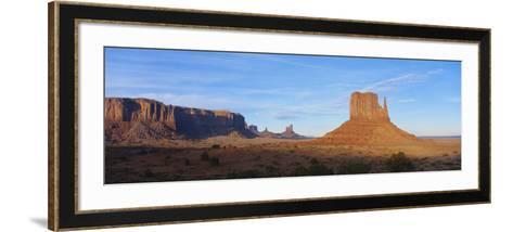 Sunset over Sandstone Bluffs in Monument Valley Navajo Tribal Park, Grand Canyon Np, Arizona, USA-Paul Souders-Framed Art Print