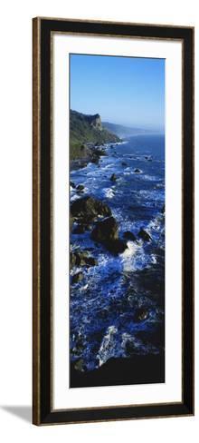 Rocky Coastline in Evening Twilight Near Westport, Redwoods National Park, California, USA-Paul Souders-Framed Art Print
