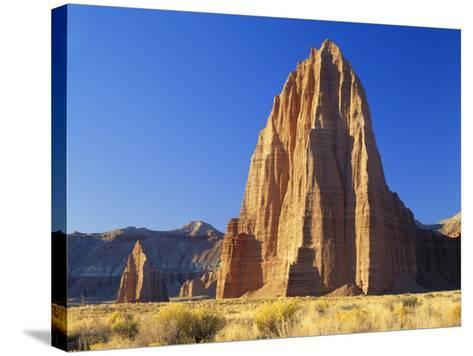 Formation of Plateau in Capitol Reef National Park, Lower Cathedral Valley, Colorado Plateau, Utah-Scott T^ Smith-Stretched Canvas Print