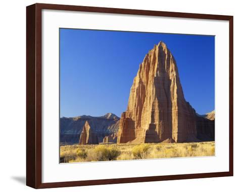 Formation of Plateau in Capitol Reef National Park, Lower Cathedral Valley, Colorado Plateau, Utah-Scott T^ Smith-Framed Art Print
