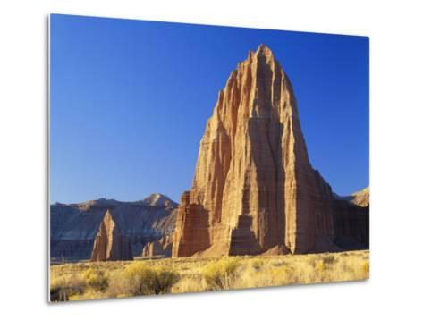 Formation of Plateau in Capitol Reef National Park, Lower Cathedral Valley, Colorado Plateau, Utah-Scott T^ Smith-Metal Print