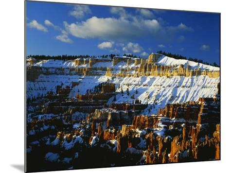 Snow Covered Cliffs and Hoodoos, Bryce Canyon National Park, Colorado Plateau, Utah, USA-Scott T^ Smith-Mounted Photographic Print