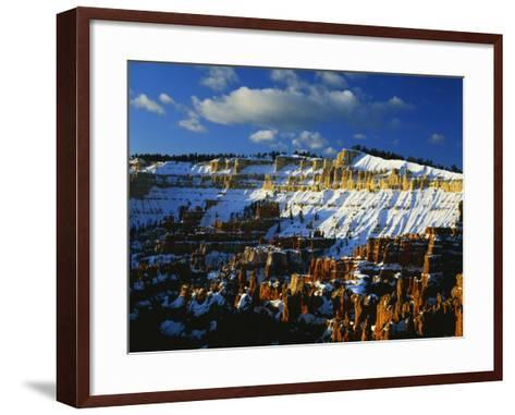 Snow Covered Cliffs and Hoodoos, Bryce Canyon National Park, Colorado Plateau, Utah, USA-Scott T^ Smith-Framed Art Print