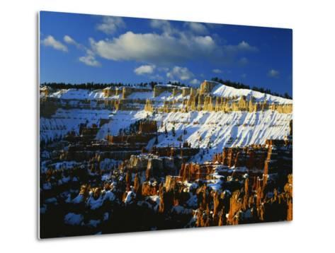 Snow Covered Cliffs and Hoodoos, Bryce Canyon National Park, Colorado Plateau, Utah, USA-Scott T^ Smith-Metal Print