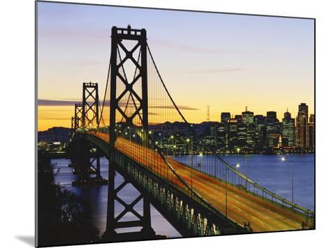 Oakland Bay Bridge at Dusk, San Francisco, California, USA-David Barnes-Mounted Photographic Print