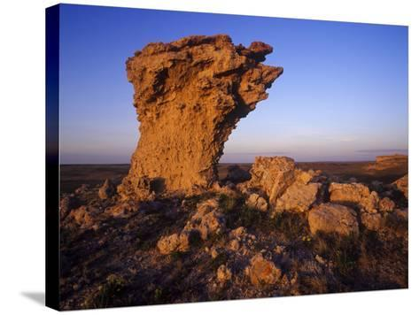 Rock Outcroppings in the Agate Fossil Beds National Monument, Nebraska, USA-Chuck Haney-Stretched Canvas Print