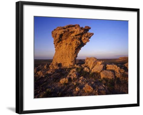 Rock Outcroppings in the Agate Fossil Beds National Monument, Nebraska, USA-Chuck Haney-Framed Art Print