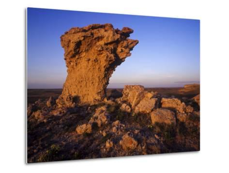 Rock Outcroppings in the Agate Fossil Beds National Monument, Nebraska, USA-Chuck Haney-Metal Print