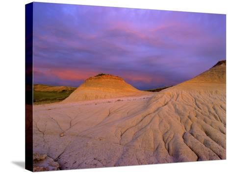 Badlands at Twilight in the Little Missouri National Grasslands, North Dakota, USA-Chuck Haney-Stretched Canvas Print