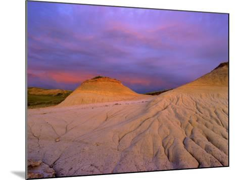Badlands at Twilight in the Little Missouri National Grasslands, North Dakota, USA-Chuck Haney-Mounted Photographic Print