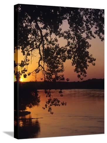 Sunset over the Missouri at Indian Cave State Park, Nebraska, USA-Chuck Haney-Stretched Canvas Print