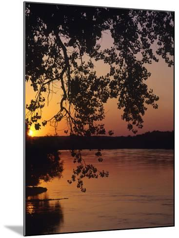 Sunset over the Missouri at Indian Cave State Park, Nebraska, USA-Chuck Haney-Mounted Photographic Print