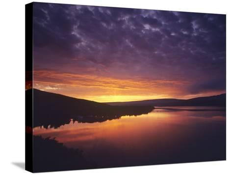 Vivid Sunrise over St Mary Lake in Glacier National Park, Montana, USA-Chuck Haney-Stretched Canvas Print
