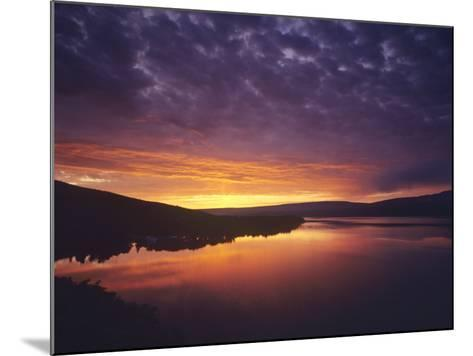 Vivid Sunrise over St Mary Lake in Glacier National Park, Montana, USA-Chuck Haney-Mounted Photographic Print