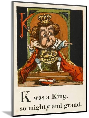 A Not Very Jolly King on His Throne in All His Regalia--Mounted Giclee Print