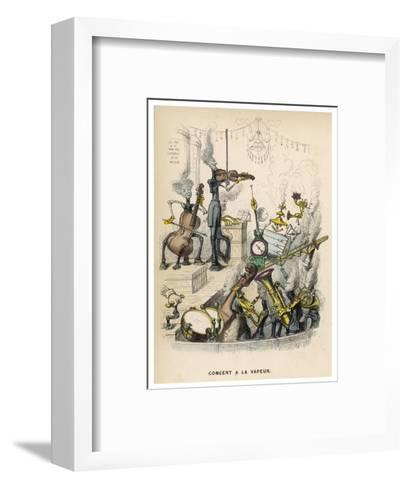 A Steam Orchestra With, Drums, Cello, Violin, French Horn and Trombone--Framed Art Print