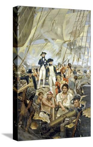 Admiral Nelson and Captain Hardy During Trafalgar--Stretched Canvas Print