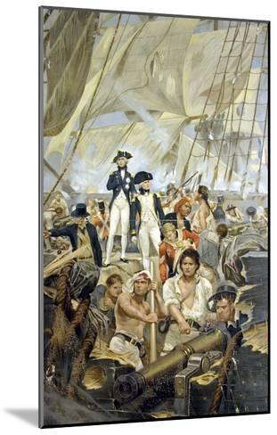 Admiral Nelson and Captain Hardy During Trafalgar--Mounted Giclee Print
